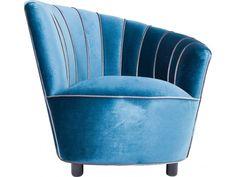 Fotel Pipe niebieski — Fotele Kare Design — sfmeble.pl