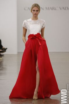 Two-piece bridal gown inspiration for sure! Carmen Marc Valvo RTW Spring 2013
