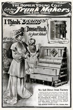 She's off to the 1904 World's Fair. My goodness! How long you stayin'?