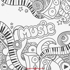 Musique, Graffiti and Gribouillage on Pinterest Music Note Coloring Pages For Adults