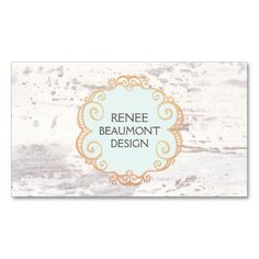 Cute Rustic Country White Wood Double-Sided Standard Business Cards (Pack Of Wood Business Cards, Business Card Maker, Salon Business Cards, Business Card Logo, Business Card Design, Shabby Chic Logo, Paper Bag Design, Bussiness Card, Logo Sticker