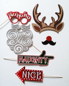 Christmas Party Photo Booth Party Props ,elabored whit glitter foamy and card stock includes 6 pieces:> -- Awesome products selected by Anna Churchill Christmas Photo Booth Props, Photo Booth Party Props, Christmas Photos, Reindeer Antlers, Card Stock, Glitter, Cards, Churchill, Etsy