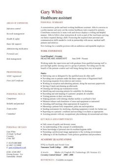 health care resume templates healthcare assistant cv - Home Health Care Resume