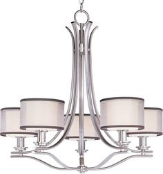 Buy the Maxim 23035SWSN Satin Nickel Direct. Shop for the Maxim 23035SWSN Satin Nickel Orion 5 Light 1 Tier Chandelier and save.