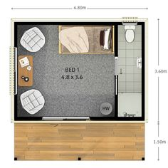 Sleepout | Versatile Sleepout | Tiny Home | Holiday Home | Inspiration | Floor Plan Inspiration Game Room, Tiny House, Floor Plans, Flooring, How To Plan, Holiday, Inspiration, Biblical Inspiration, Living Room Playroom