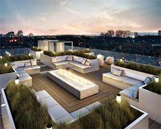 une jolie terrasse avec une belle vue vers la ville