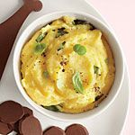 Goat Cheese and Basil Polenta Recipe | MyRecipes.com