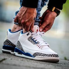 hot sale online 0ec8e faef4 Nike Air Jordan III True Blue (by j.kjerulff) Lojas De Tênis,