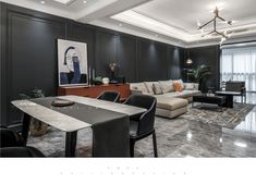 Dark Grey Walls, Conference Room, Living Room, Table, Furniture, Home Decor, Decoration Home, Dark Gray Walls, Room Decor