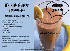 #WeightGainer Smoothie