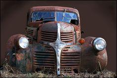 Skip's Motorcycle Junk Yard - Dodge Truck by Mark Birkle, via Flickr