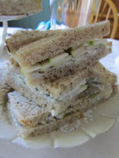 Pear and Gorgonzola Tea Sandwiches
