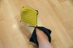 this is a crochet version, but it has the how to fold video