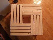 Nábytok - Stolík z debničiek 630x630x340 - 3539549