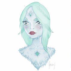 #illustration #blue #girl #cute #pastel #illustrator #draw #drawing #art #digitalart #elf #fantasy #hair