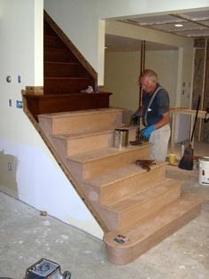 Elegant Basement Stairs Ideas | Basement Stair Construction Pictures