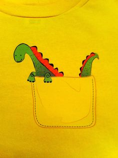 Pocket Dragon Tee Shirt  Yellow by rhoadworks on Etsy, $11.00- Its is a youth tee, but pinning it cuz it's cute anyways!
