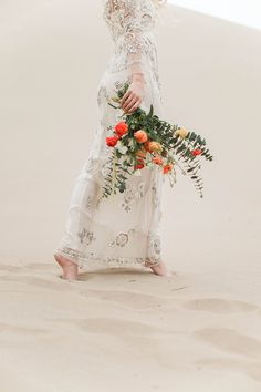 Dunes & Daydreams, Photo by Kenzie D Photography, Dress by Needle & Thread, Florals by Ambedo, Photographed at Sahara Sand Dunes #utahvalleybride #sanddunes #utahweddingphotography