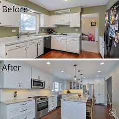 Kitchen Remodel Before And After Wall Removal opening up a kitchen / dining area (2) wall removal, added an