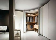 Cabina armadio angolare - Cabina armadio con ante a soffietto