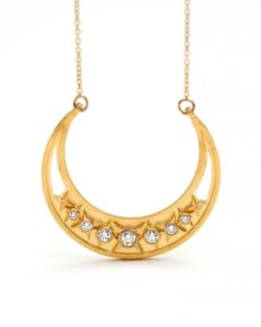 alexandra crescent necklace by Megan Thorne.  Reminiscent of orientalist fascination with Islamic imagery, this piece is versatile and just plain hip.