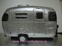 shiny airstream cake