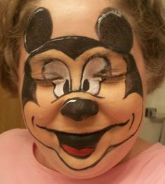 Mickey Mouse face paint
