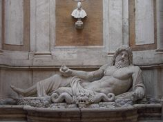 Roman statue of a River God, later or Century AD, now in the courtyard of the Palazzo Nuovo, Rome. Photo Credit: Clio Ancient Art and Antiquities Italy Train, Greek Statues, Art Through The Ages, Best Of Italy, Roman Art, 1st Century, Ancient Art, Wonders Of The World, Sculptures
