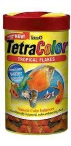 Fish Food:Tetra Color Tropical Flakes, 7.06-Ounce, 1-Liter