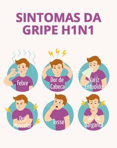A gripe A provoca sintomas semelhantes ao da gripe comum, como febre, dores no corpo, dor de garganta, tosse e dor de cabeça por exemplo, porém os sintomas são muitas vezes mais intensos, surgem de forma repentina e perduram por mais tempo. Esta gripe pode ser contagiosa entre 7 a 10 dias, especialmente até 24 horas depois da febre desaparecer. #sintomas #h1n1 #tuasaúde