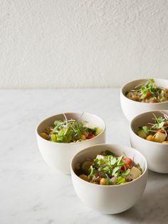 farro chick pea salad this farro chick pea salad with shallot herb ...
