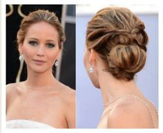 Classy bun with hair twisted back