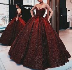 A-Line ELegant Gorgeous Ball Gown, Strapless Modest High Quality Floor-Length Popular Prom Dresses Sequin Prom Dresses, Cheap Prom Dresses, Evening Dresses, Dress Prom, Red Gown Prom, Maroon Prom Dress, Ball Gowns Evening, Pageant Gowns, Evening Party