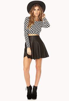 Cool-Girl Skater Skirt | FOREVER 21 - 2000140242