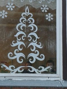 Christmas Window Decorations, Holiday Ornaments, Decor Crafts, Diy And Crafts, Paper Crafts, Windows Color, Christmas Holidays, Christmas Crafts, Christmas Templates