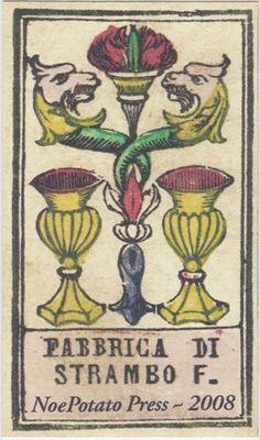 Strambo's Tarot - 2 Cups. 1890