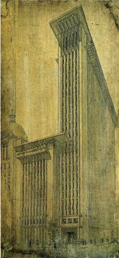 Frank Lloyd Wright (American, 1867-1959) San Francisco Call, Press Headquarters Building, 1913