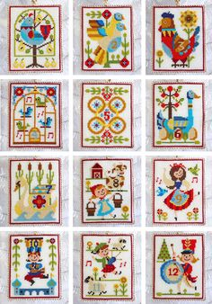 Satsuma Street - 12 Days of Christmas - Cross Stitch ornaments pattern