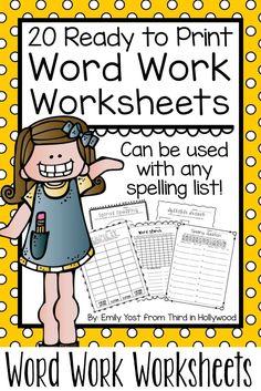 Word Work Worksheets!