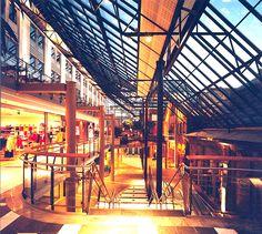 Nedre Elvehavn, Solsiden (2001) – ARC arkitekter Shopping Center, Skylight, Louvre, Building, Travel, Shopping Mall, Construction, Trips, Traveling
