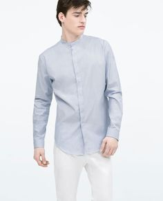 cd3f6942 STRIPED SHIRT WITH MAO COLLAR-View all-Shirts-MAN-SALE | ZARA Canada
