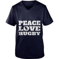 Make this awesome proud Coach: Peace Love Rugby Sport Girl Boy Guy Lady Men Women Man Woman Coach Player as a great gift Shirts T-Shirts for Coaches