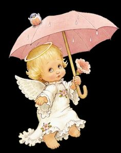 Ruth Morehead: Angel Holding Umbrella