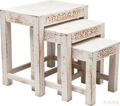 Taberna Side Table White (3/Set)