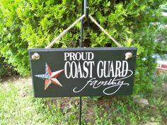 Proud Coast Guard Family Handmade Painted by SimplySaidSayings, $12.00