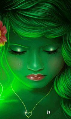 without words art green girl fantasy 3d Fantasy, Fantasy Women, Fantasy Girl, Fantasy Fairies, Images Wallpaper, Wallpaper Backgrounds, Fairy Wallpaper, Wallpapers, Chica Gato Neko Anime