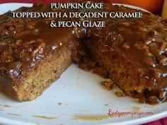 Caramel & pecan upside down pumpkin cake