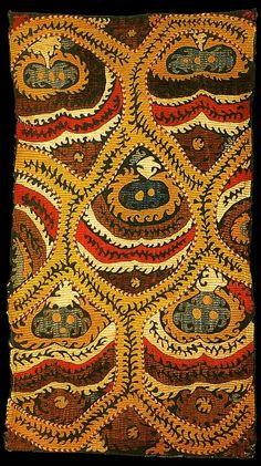 Silk embroidered kaitag, Daghestan, Caucasus.