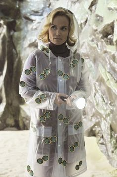 Olive Snook in her olive raincoat from Pushing Daisies