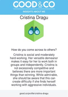 Just took Good&Co's quiz to discover my social style! Check out my results! Discover yours: